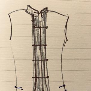 Mongol Nehru Jacket Sketch