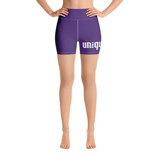 Uniquely FIT purple/white Shorts