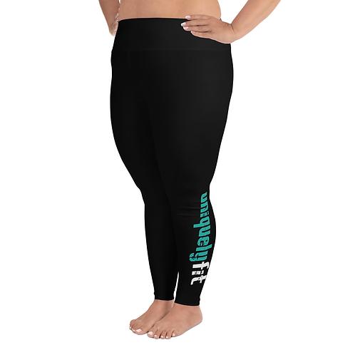 Uniquely FIT black/green Yoga Leggings