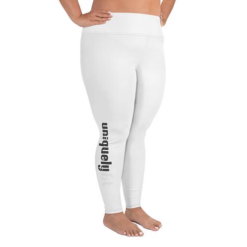 Uniquely FIT white/black Yoga Leggings