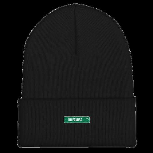 No Favors Blvd. Beanie Hat