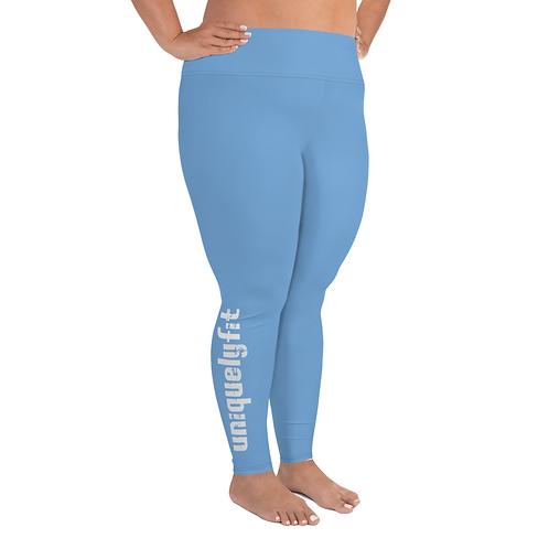 Uniquely FIT light blue/white Yoga Leggings
