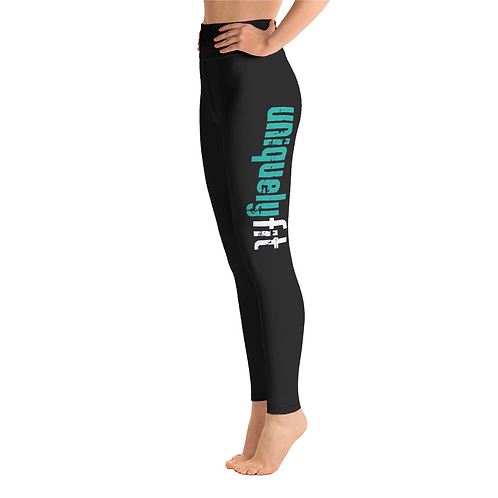 Uniquely FIT black/green Yoga Leggings