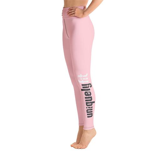 Uniquely FIT pink/black Yoga Leggings