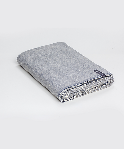 Cotton Yoga Blanket - Ink Weave