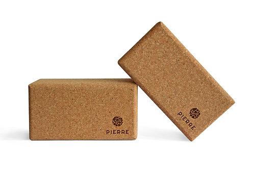 Yoga Prop - steunblok PIERRE kurk - 22.4x15x7.5 cm
