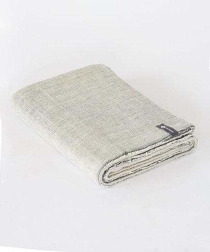 Cotton Yoga Blanket - Melange Evergreen