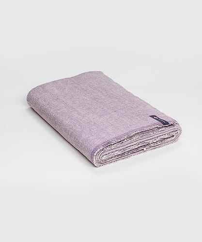 Cotton Yoga Blanket - Plum Weave