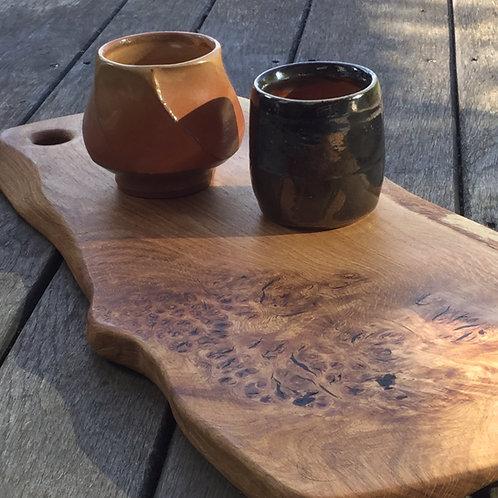 Exquisite Burr Oak Collection - Circular handle