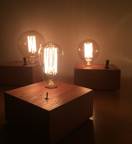 Retro vintage Oak lamp