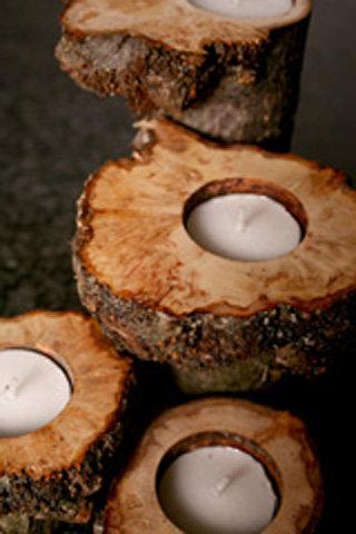 Burr Tealight - Mixed Welsh hardwood