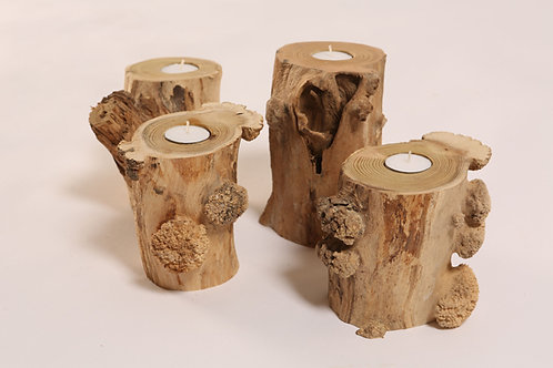 Robinia burr candle holders - limited edition