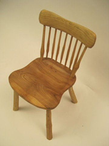 Comb Back Chair - Shaved finish-No undercarriage