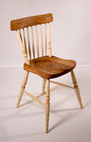 Comb-back Chair - Turned finish-With undercarriage