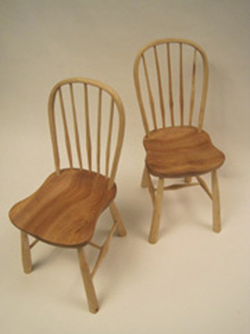 Bow Windsor Chair-Shaved finish-With undercarriage
