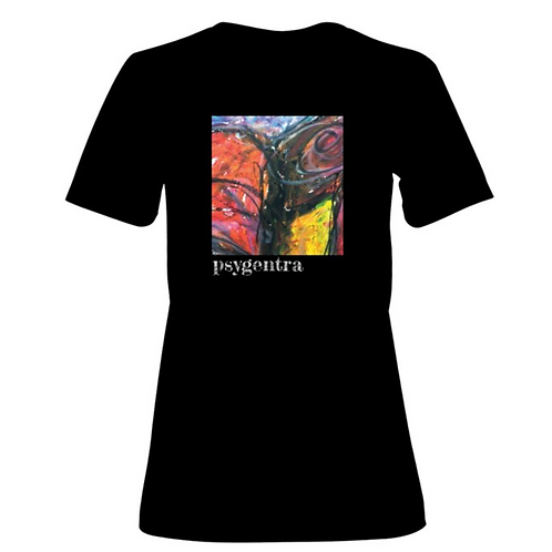 Fitted T-Shirt with Pride Rose Artwork