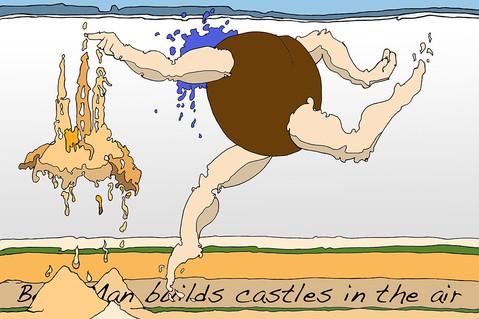 Bean Man Builds Castles in the Air