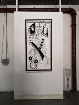 Drawing within a Found Frame
