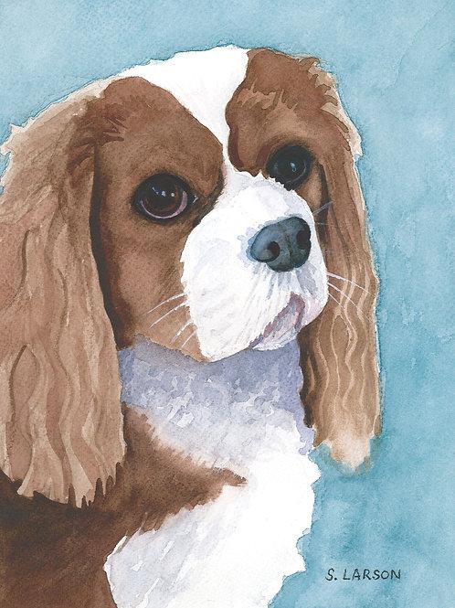Dog Portrait Watercolor Print