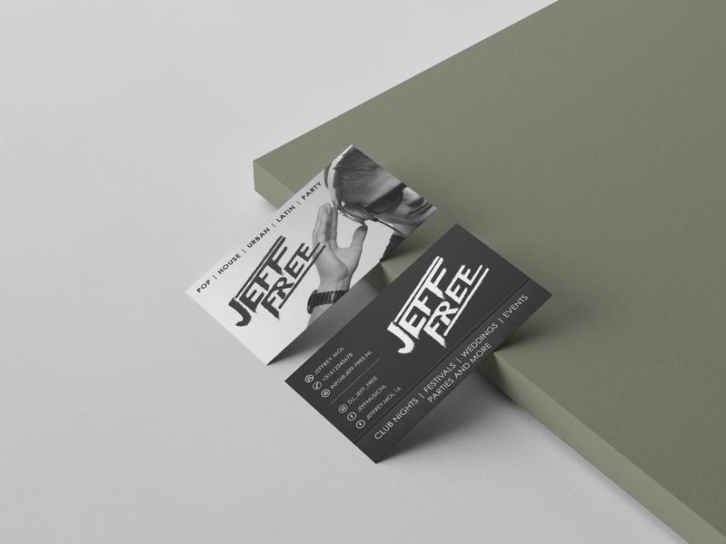 Visitekaartje voor DJ Jeff Free