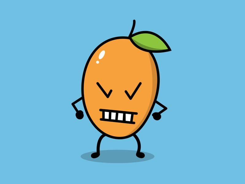 Angry Mango illustratie