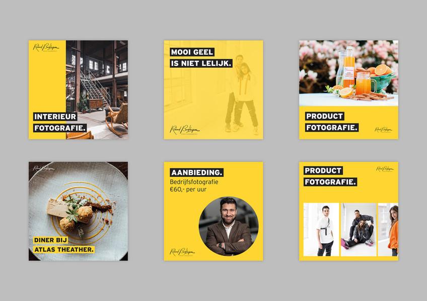 Social media templates voor Richard Broekhuijzen Fotografie