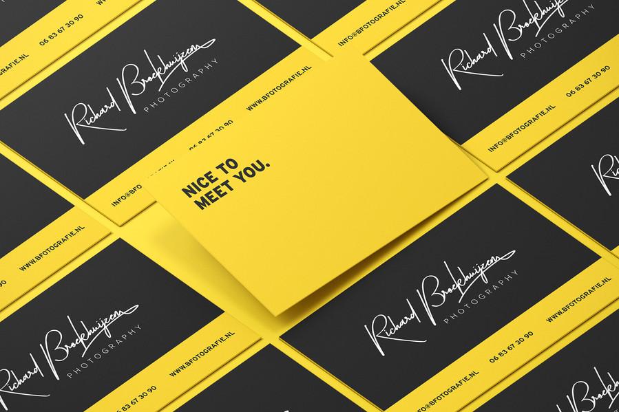 Visitekaartje ontwerp voor Richard Broekhuijzen Fotografie