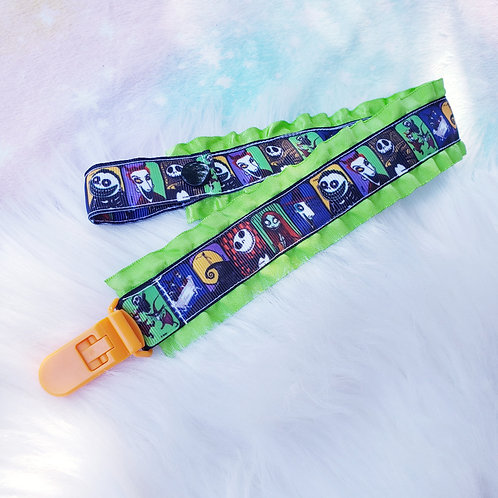 Neon Nightmare Paci Clip- double-sided