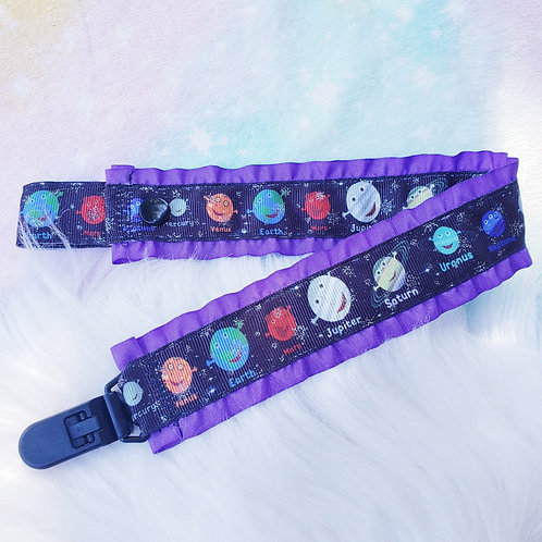 Little Planets paci clip- double-sided