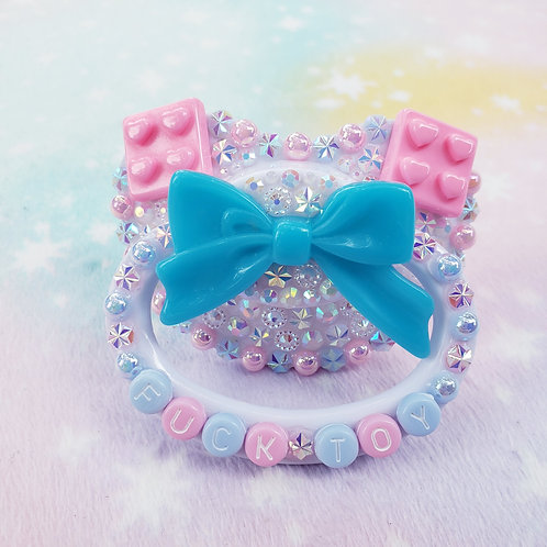 F Toy- blue bow