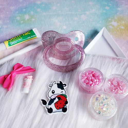 DIY Paci Kit- Strawberry Milk