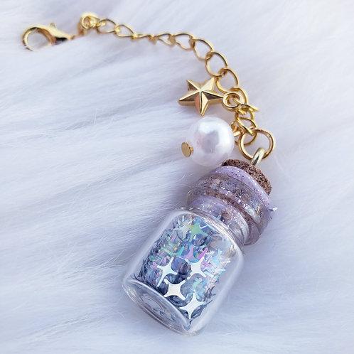 Silver Stars Glitter Paci Charm
