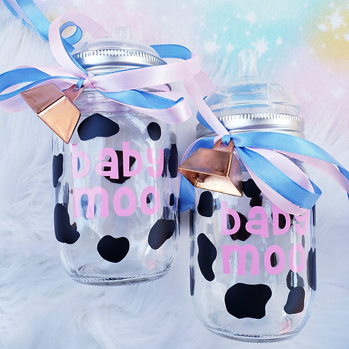 Baby Moo Glass Bottle or Sippy