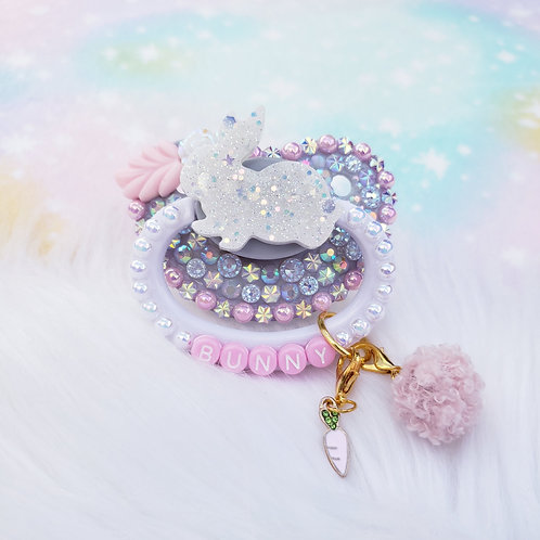 Bunny w/ Detachable Charms (silver/pink)