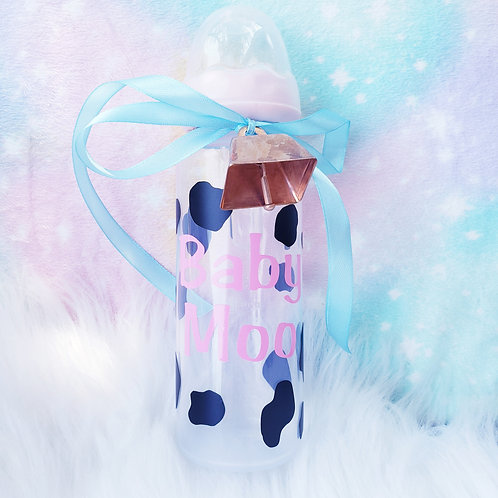 Baby Moo Adult Bottle with Bell and Ribbon
