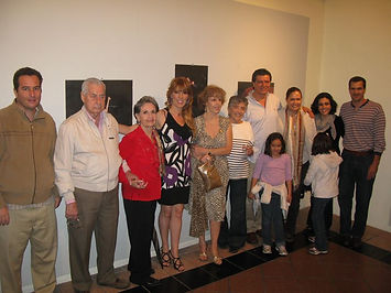 Familia Farber en Expo Laura Rojo Mazatl