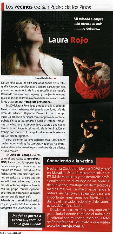 Entrevista ENTRE VECINOS a Laura Rojo (J