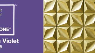 As cores de 2018 - Ultra Violet e Dourado