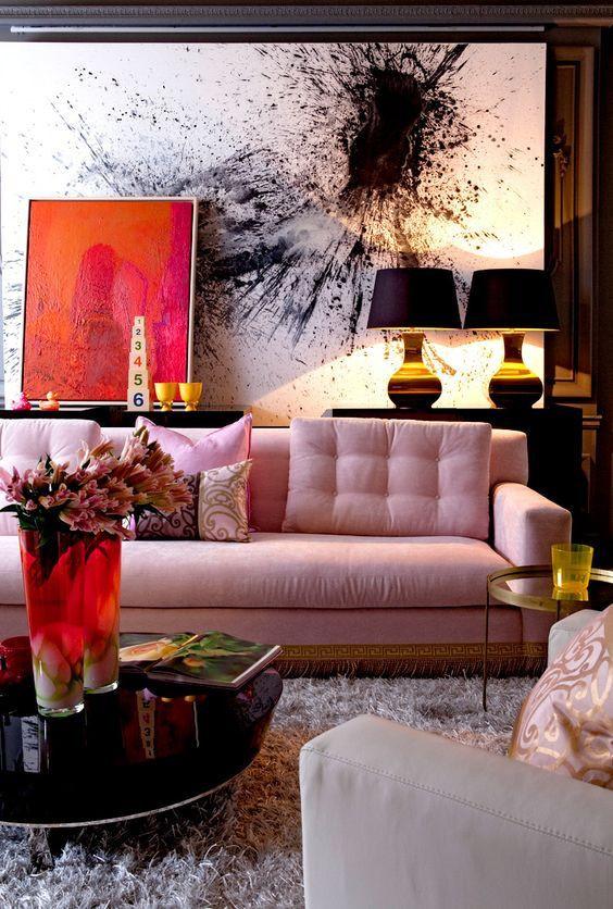 sofá em rosa queimado