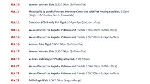 October Schedule of Events