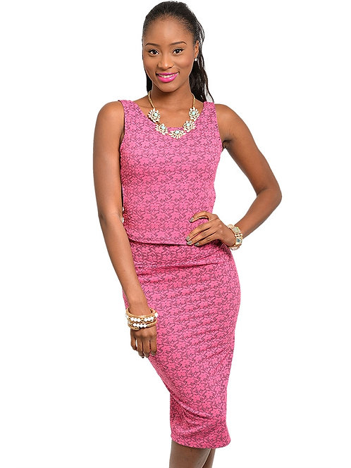 FUCHSIA TOP & SKIRT SET