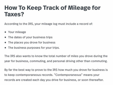 Are you tracking your miles?