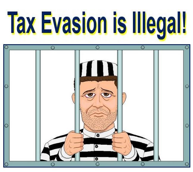 Tax evasion is the prohibited act of trying to hide one's tax liability