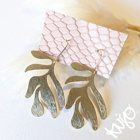Abstract Leaf Drop Earring