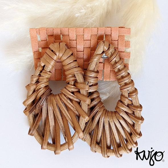 Boho Rattan Weave Earrings