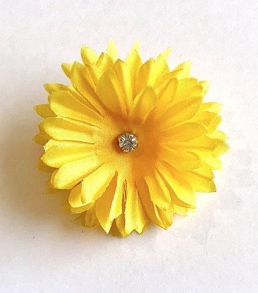Sunflower Gem Mask Clip