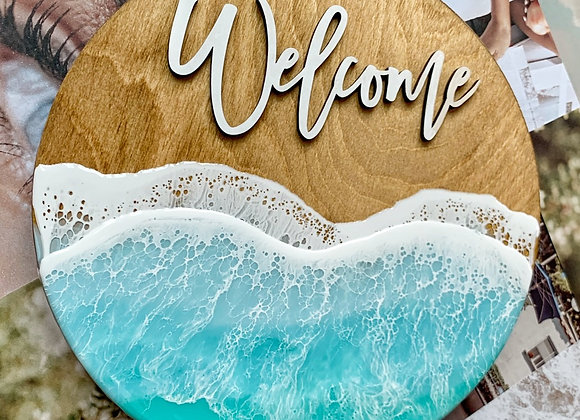 12 in Welcome Sign