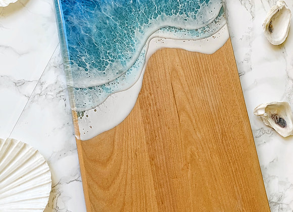 3 Wave Maple Serving Board 10x17 in