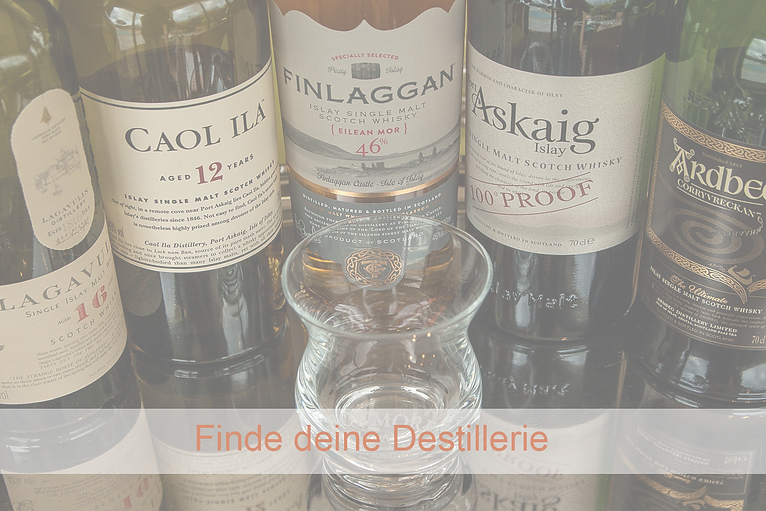 Auswahl an Whisky Sorten
