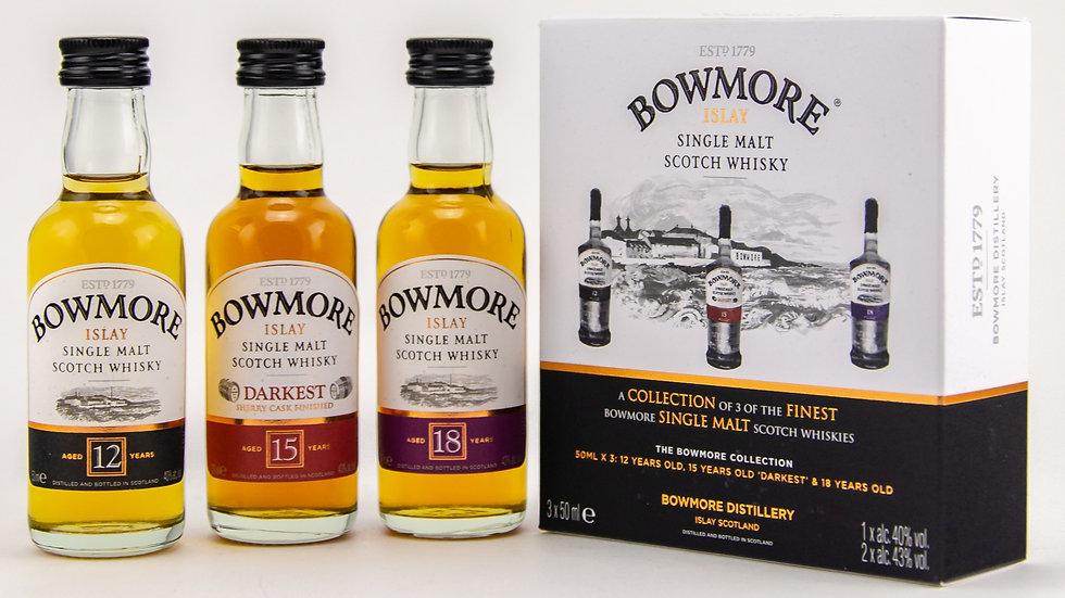 Bowmore Distillers Collection Miniature Set Vorderansicht